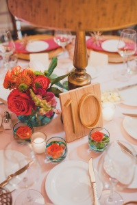 The Foundry by Herban Feast wedding in Seattle | Mid-century modern reception tables cape with house address table numbers | Perfectly Posh Events | Carina Skrobecki Photography | Butter & Bloom