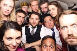 Seattle's Top Wedding Vendors | Guests in wedding photo booth | Shutter Bus Co. | Seattle's Best New Wedding Vendor | Shutter Bus Co. Photography