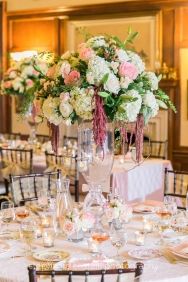 Thornewood Castle Wedding in Seattle |Elaboratewhite and blush floral centerpieces | Perfectly Posh Events, Seattle Wedding Planner | Stephanie Cristalli Photography | Aria Style