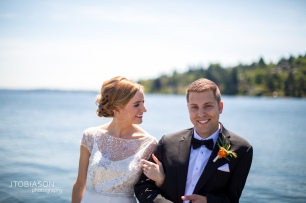 Seattle Tennis Club wedding in Seattle | Seattle bride & groom at Lake Washington | Perfectly Posh Events, Seattle Wedding Planner | JTobiason Photography