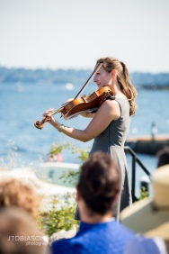 Seattle Tennis Club wedding in Seattle | Violinist playing music during ceremony | Perfectly Posh Events, Seattle Wedding Planner | JTobiason Photography