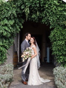 DeLille Cellars Wedding featured on Maggie Sottero Bride