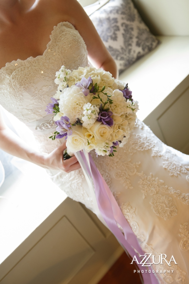 Laurel Creek Manor Wedding in Seattle   Lavender and white floral bouquet with ribbon   Perfectly Posh Events, Seattle Wedding Planner   Azzura Photography   Sublime Stems