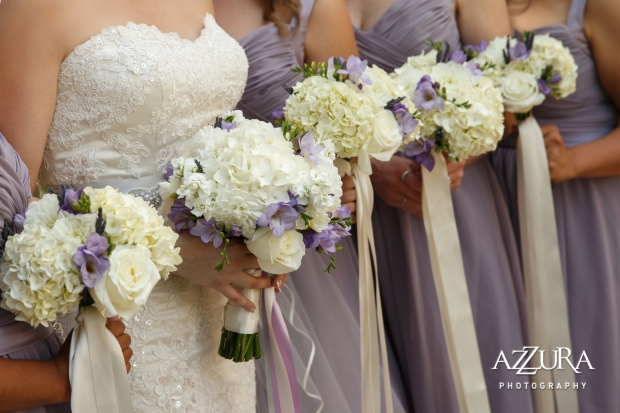 Laurel Creek Manor Wedding in Seattle | Lavender bridesmaids dresses with purple and white bouquets and ribbon | Perfectly Posh Events, Seattle Wedding Planner | Azzura Photography | Sublime Stems