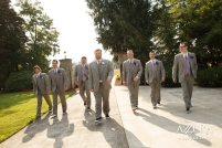 Laurel Creek Manor Wedding in Seattle | Grey groomsmen suits with lavender accents | Perfectly Posh Events, Seattle Wedding Planner | Azzura Photography