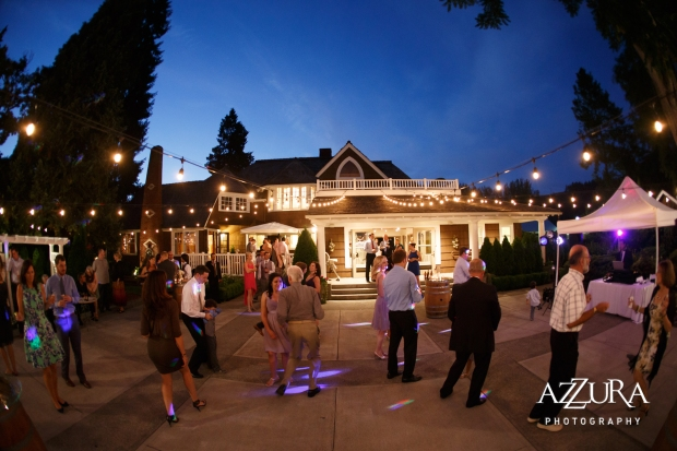 Laurel Creek Manor Wedding in Seattle   Evening dancing at Laurel Creek Manor with Italian cafe lights   Perfectly Posh Events, Seattle Wedding Planner   Azzura Photography
