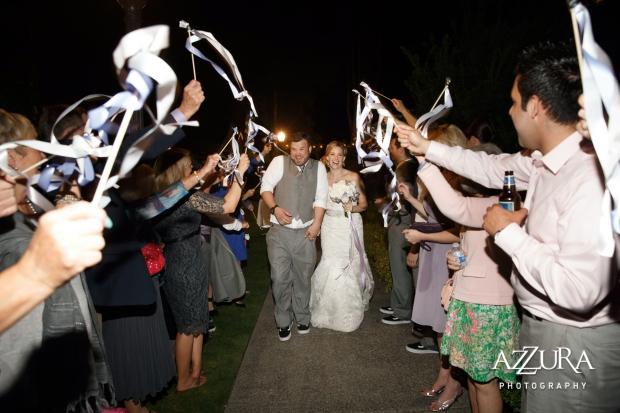 Laurel Creek Manor Wedding in Seattle   Ribbon send-off from wedding reception   Perfectly Posh Events, Seattle Wedding Planner   Azzura Photography