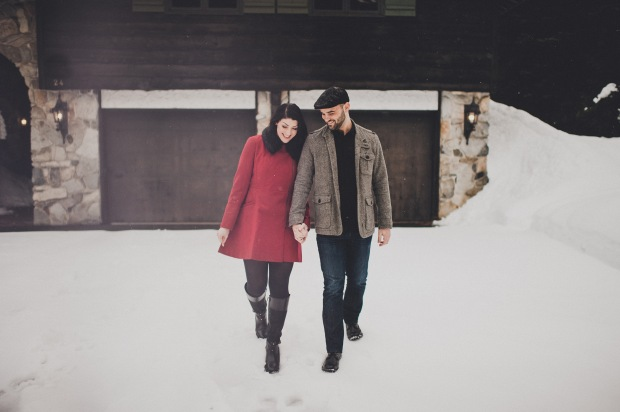 Pacific Northwest Engagement Shoot   PNW Winter at log cabin engagement shoot   Seattle Wedding Planner, Perfectly Posh Events   Carina Skrobecki Photography