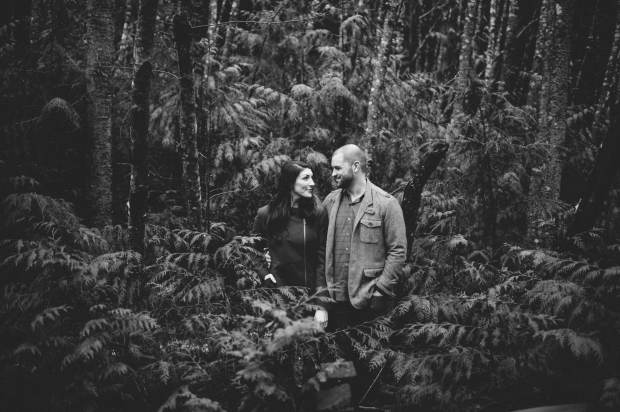 Pacific Northwest Engagement Shoot | PNW engagement shoot in the woods with ferns, and moss | Seattle Wedding Planner, Perfectly Posh Events | Carina Skrobecki Photography