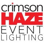 Crimson Haze Event Lighting logo (black text on white)