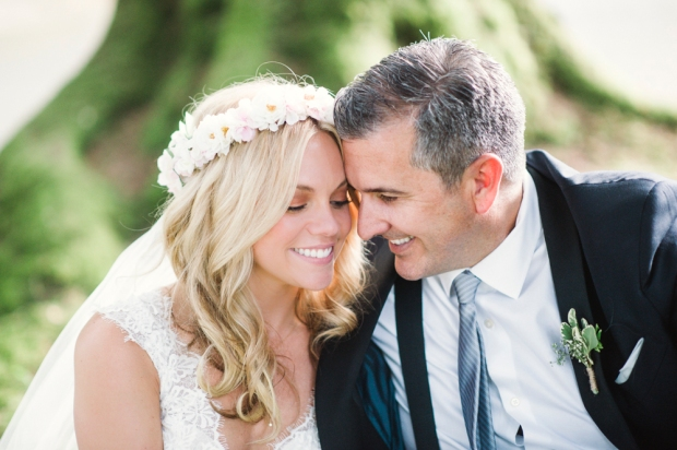 Glen Acres Golf Club wedding in Seattle | Bridal flower crown for romantic wedding | Perfectly Posh Events, Seattle Wedding Planner | Barrie Anne Photography