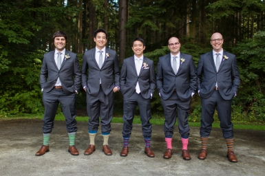 Robinswood House Wedding in Bellevue  Groomsmen wearing funny socks for wedding   Perfectly Posh Events, Seattle Wedding Planner   Courtney Bowlden Photography
