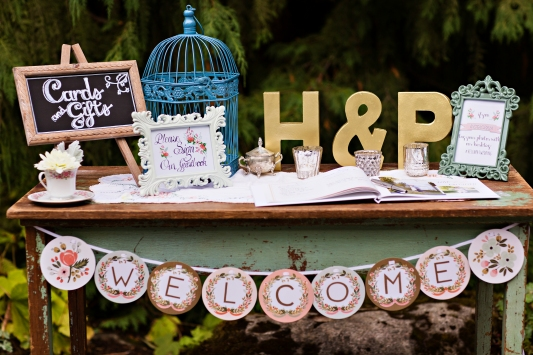 Robinswood House Wedding in Bellevue   Rusticated whimsical guest table   Perfectly Posh Events, Seattle Wedding Planner   Courtney Bowlden Photography