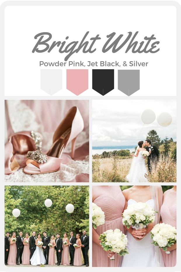 White Wedding Color Swatches from Pantone   Real wedding with Pantone color, Bright White   Coordinated by Perfectly Posh Events   Amanda Lloyd Photography   Flowers by Martha Harris