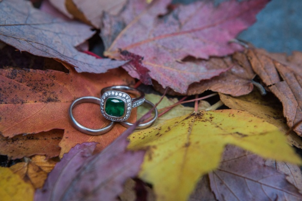 Salish Lodge Wedding in Seattle | Pacific Northwest Fall Wedding, emerald engagement ring | Perfectly Posh Events | Amy Galbraith Photography