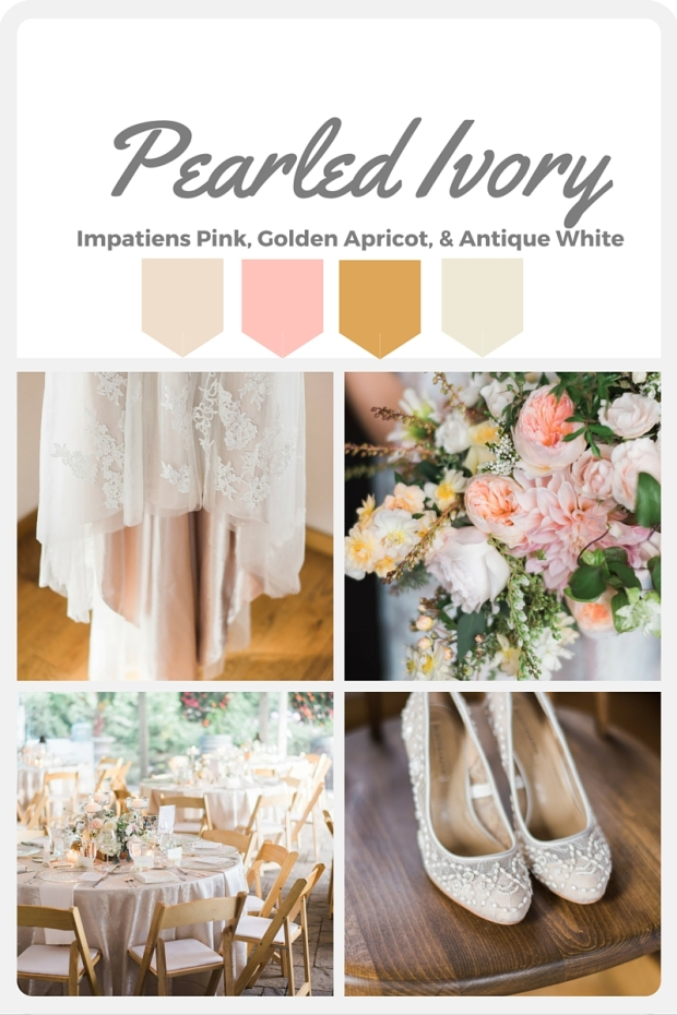 White Wedding Color Swatches from Pantone   Real wedding with Pantone color, Pearled Ivory   Coordinated by Perfectly Posh Events   Daniel Usenko Photography   Floral Design by Flora Nova Design