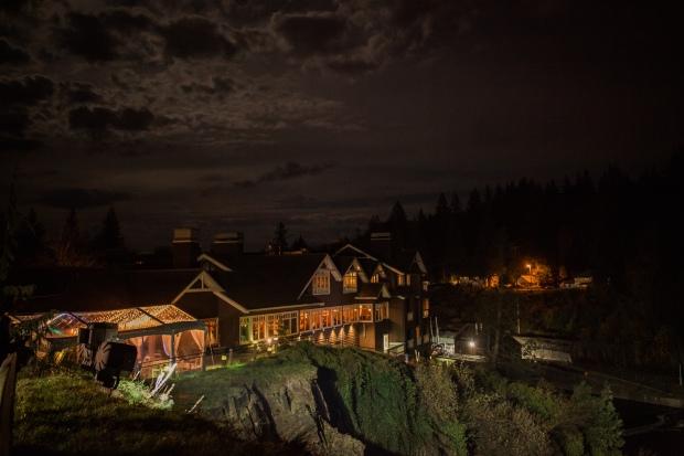 Salish Lodge Wedding in Seattle   Salish Lodge evening shot   Perfectly Posh Events   Amy Galbraith Photography