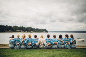 Edgewater House wedding in Seattle | Bride & Bridesmaids getting ready shot | Perfectly Posh Events | Mike Fiechtner Photography