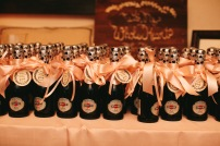 DeLille Cellars Wedding in Woodinville, WA |Mini champagne bottles for wedding favors | Perfectly Posh Events | Lucid Captures Photography