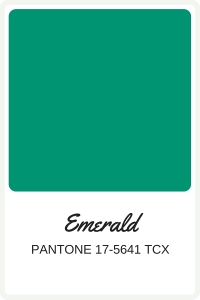 Shades of Green to use in your wedding | Pantone Color, Emerald | Perfectly Posh Events