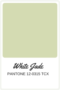 Shades of Green to use in your wedding | Pantone Color, White Jade | Perfectly Posh Events