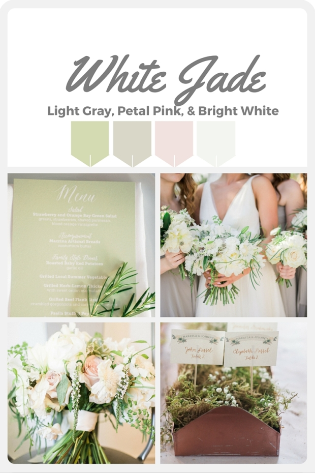 Green Wedding Color Swatches from Pantone | Real wedding with Pantone color, White Jade | Coordinated by Perfectly Posh Events | Alexandra Grace Photography | Floral Design by