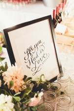 Wedding reception calligraphy sign| Golden Gardens Bathouse Wedding | Perfectly Posh Events, Seattle Wedding Planner | Andria Linquist Photography | Holly + Dustin Wedding // © Andria Lindquist 2014