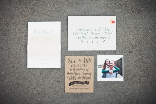 Wedding invitation suite | Golden Gardens Bathouse Wedding | Perfectly Posh Events, Seattle Wedding Planner | Andria Linquist Photography | Holly + Dustin Wedding // © Andria Lindquist 2014