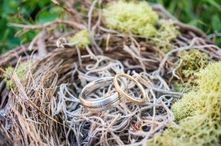 Wedding rings nestled in bird nest for photo   Meadowbrook Farm Wedding, Snoqualmie, WA   Perfectly Posh Events, Seattle Wedding Planner   Sasha Reiko Photography   Jesse + Wes Wedding // © Sasha Reiko Photography