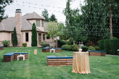Private estate wedding in woodinville with bistro lights and lounge area, Allison Dan Woodinville Wedding by Perfectly Posh Events, Photo by Blue Rose Photography