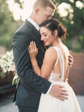 Makayla and Johnny's Wedding at Fremont Foundry in Seattle | Alexandra Grace Photography | Wedding Planning by Perfectly Posh Events, Seattle Wedding Planner | Backless wedding dress from BHLDN