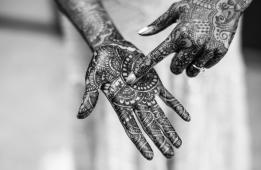Kiana Lodge Wedding on Bainbridge Island, WA | Wedding henna tattoo with groom's name hidden in design | Perfectly Posh Events, Seattle Wedding Planning | Shane Macomber Photography