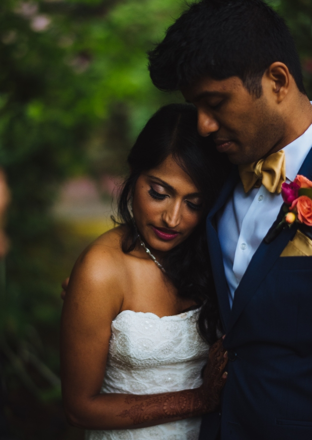Kiana Lodge Wedding on Bainbridge Island, WA | Moody couple photos with navy and gold accents | Perfectly Posh Events, Seattle Wedding Planning | Shane Macomber Photography | Floral Design by Flora Nova