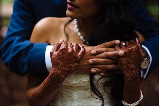 Kiana Lodge Wedding on Bainbridge Island, WA | Couple photo ideas for wedding with henna tattoo | Perfectly Posh Events, Seattle Wedding Planning | Shane Macomber Photography