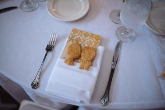 Kiana Lodge Wedding on Bainbridge Island, WA | Colorful Custom couple cookies as edible wedding favors | Perfectly Posh Events, Seattle Wedding Planning | Shane Macomber Photography