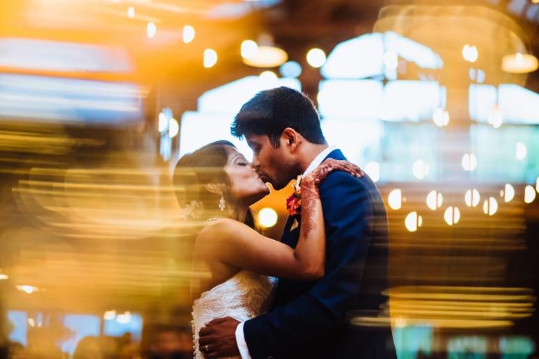 Kiana Lodge Wedding on Bainbridge Island, WA | Colorful PNW wedding reception couple's first dance at Kiana Lodge captured beautifully | Perfectly Posh Events, Seattle Wedding Planning | Shane Macomber Photography | Floral Design by Flora Nova