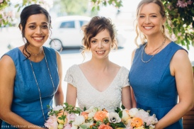 Hotel Ballard Wedding in Seattle | Summer wedding colors: shades of blue and pops of orange | Perfectly Posh Events, Seattle Wedding Planner | Mike Fiechtner Photography | Floral Design by The London Plane
