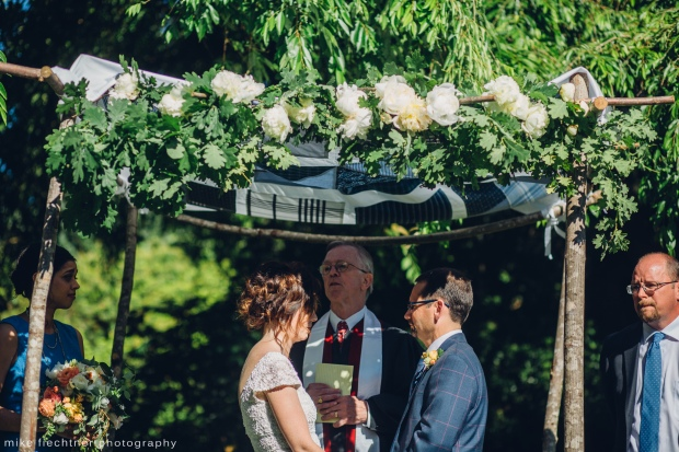 Parsons Gardens Wedding in Seattle, WA | Chuppah canopy made from father's old shirts | Perfectly Posh Events, Seattle Wedding Planner | Mike Fiechtner Photography | Floral Design by The London Plane