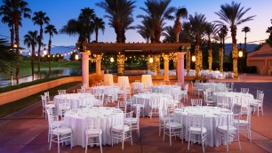 The Westin Misson Hills Golf Resort and Spa, Palm Springs wedding   reception space with dinner tables   Perfectly Posh Events, Seattle and Portland Wedding Planner