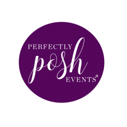 Wedding Planner Perfectly Posh Events Logo for Seattle, Portland and Palm Springs wedding planning